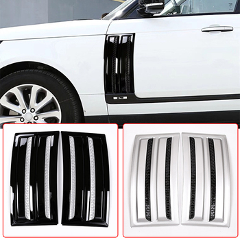 2pcs Car Parts Side Door Fender Air Vents Kit Cover Trim ABS Chrome For Land Rover Range Rover Vogue SVO 2013-2020 Car Accessory image