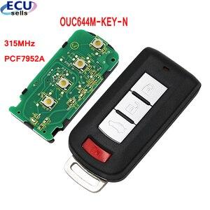 Image 1 - 4btns Smart keyless go entry Remote Car Key for Mitsubishi Lancer Outlander Galant 2008 2016 315MHz PCF7952A chip OUC644M KEY N