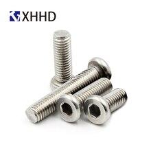 M6 M8 Flat Round Head Socket Head Screw Metric Thread Hex Socket Barrel Nut Hexagon Connector Bolt Steel Nickel Plated