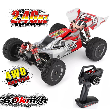JTY WLtoys 144001 RC Cars 60 km/h 4WD Alloy Remote Control Vehicle High Speed Formula Racing Radio Car Off-Road RTR - discount item  30% OFF Remote Control Toys