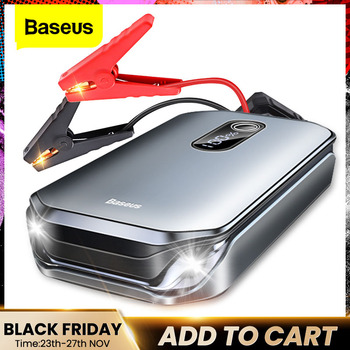 Baseus 12000mAh Car Jump Starter Power Bank 12V Auto Starting Device 1000A Car Booster Battery Emergency Starter Battery for Car baseus car jump starter power bank 12v auto starting device 800a car booster battery jumpstarter emergency buster jumper start