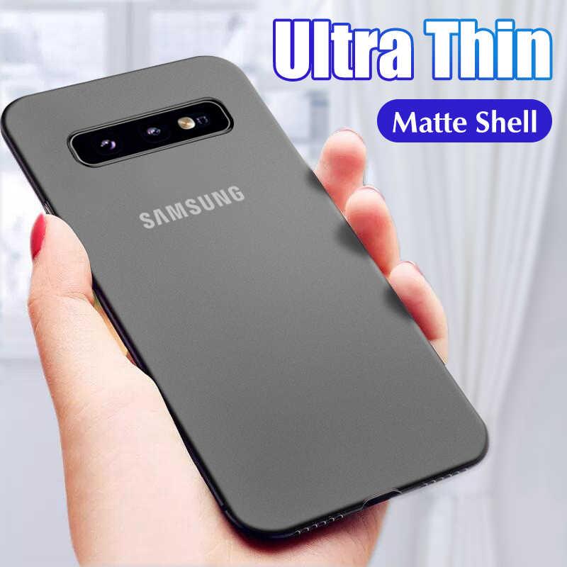 Роскошный ультра тонкий 0,2 мм матовый ПП чехол для samsung Galaxy S8 S9 S10 S10E Plus Note 8 9 10 Pro противоударный бампер чехол для телефона
