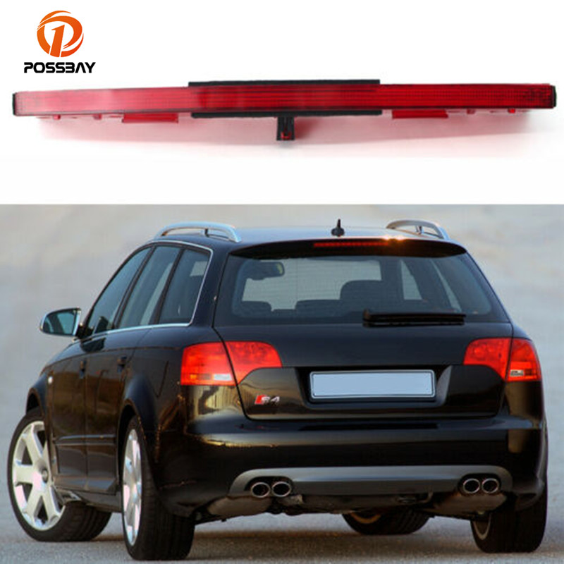POSSBAY High Auto Level Rear 3rd Brake Light Barn Third Brake Light High Mount Stop Lamp For AUDI A4 RS4 S4 B6 B7 2002-2008
