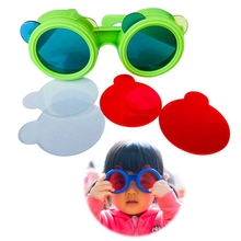 Color-Glasses Kids Three Lenses Replaceable Principle Primary