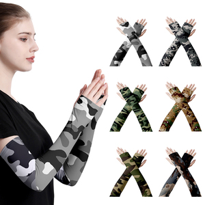 1Pair Camouflage Arm Warmers Sports Bicy
