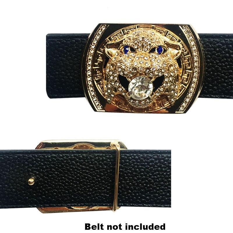 Luxury Rheinstone Championship Men's Belt Buckles Suitable 4 Cm Width Belts Trending Accessories Hebillas Para Cinturon Hombre