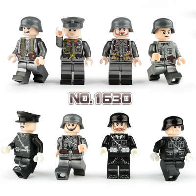 New WW2 Military Army Soldier Figures Building Blocks German Minifigure Weapon Helmet Accessories Blocks Bricks Toy for Children