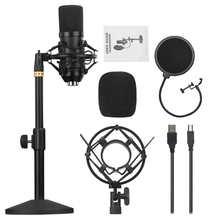Profesjonalne mikrofony studyjne do nagrywania USB przewodowa podpórka mikrofonu do nagrywania studyjnego Vlog na żywo tanie tanio YOUTHINK Wiszące Mikrofony Mikrofon pojemnościowy Mikrofon komputerowy Wielu Mikrofon Zestawy Dookólna Przewodowy Recording