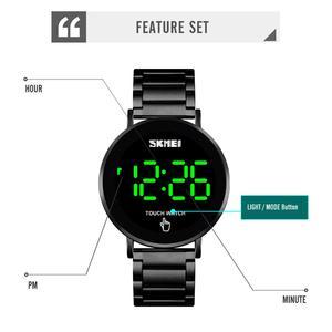 Image 2 - SKMEI นาฬิกาผู้ชายดิจิตอลนาฬิกา Luxury หน้าจอสัมผัสจอแสดงผล LED นาฬิกาข้อมืออิเล็กทรอนิกส์สแตนเลสผู้ชายนาฬิกาผู้ชาย