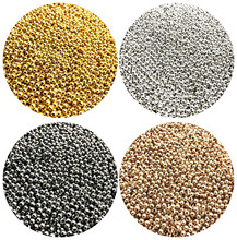 500/200/50pcs 2/4/6mm Gold/Gun black/Bronze Tone Metal Beads Smooth Ball Spacer Beads For Jewelry Making DIY Bracelet Necklace