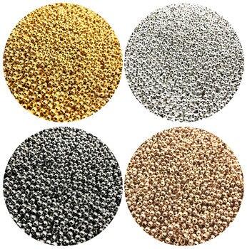 500/200/50 шт в наборе 2/4/6 мм золото/серебро/бронза металл бисер гладкий шар бусины для самостоятельного изготовления ювелирных изделий браслет ...