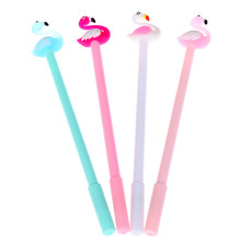 Fornitori di Bambini di Scuola di Cancelleria Per Ufficio Penna del regalo Strumento 1 Pc Cute Cartoon Flamingo Kawaii di Cancelleria Penne a Inchiostro Gel(China)
