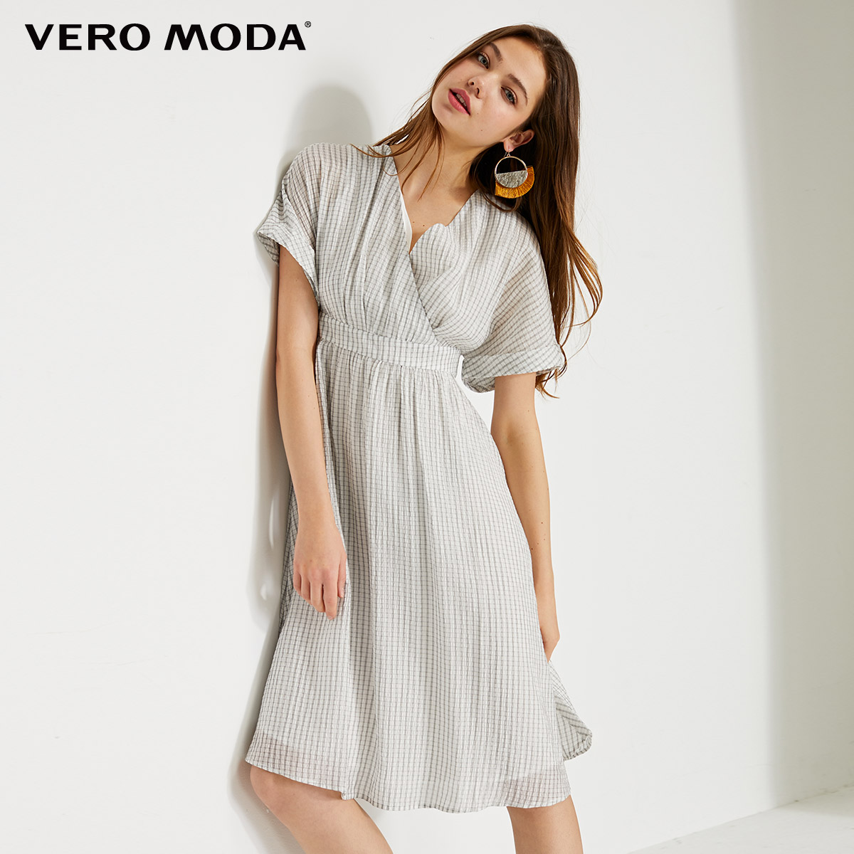 Vero Moda Women's Grain Fabric V-neckline Dress | 31927B537