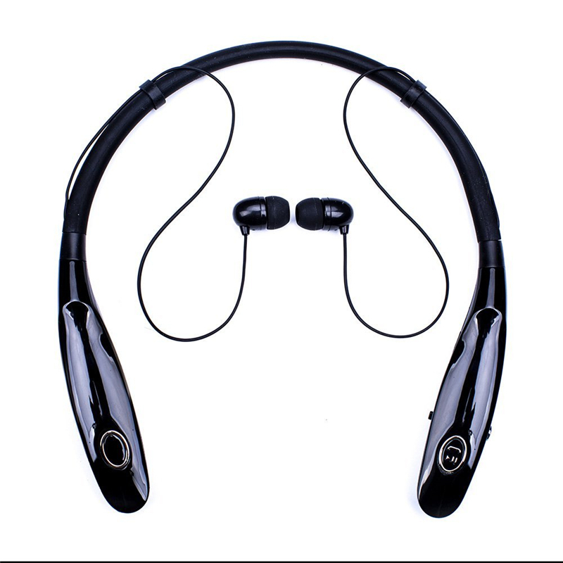 900sc Sport Bluetooth Earphone 3D Stereo Earbud neck-strap Design With Mic Portable 350mAh Big Battery 15hours Work Headset(China)