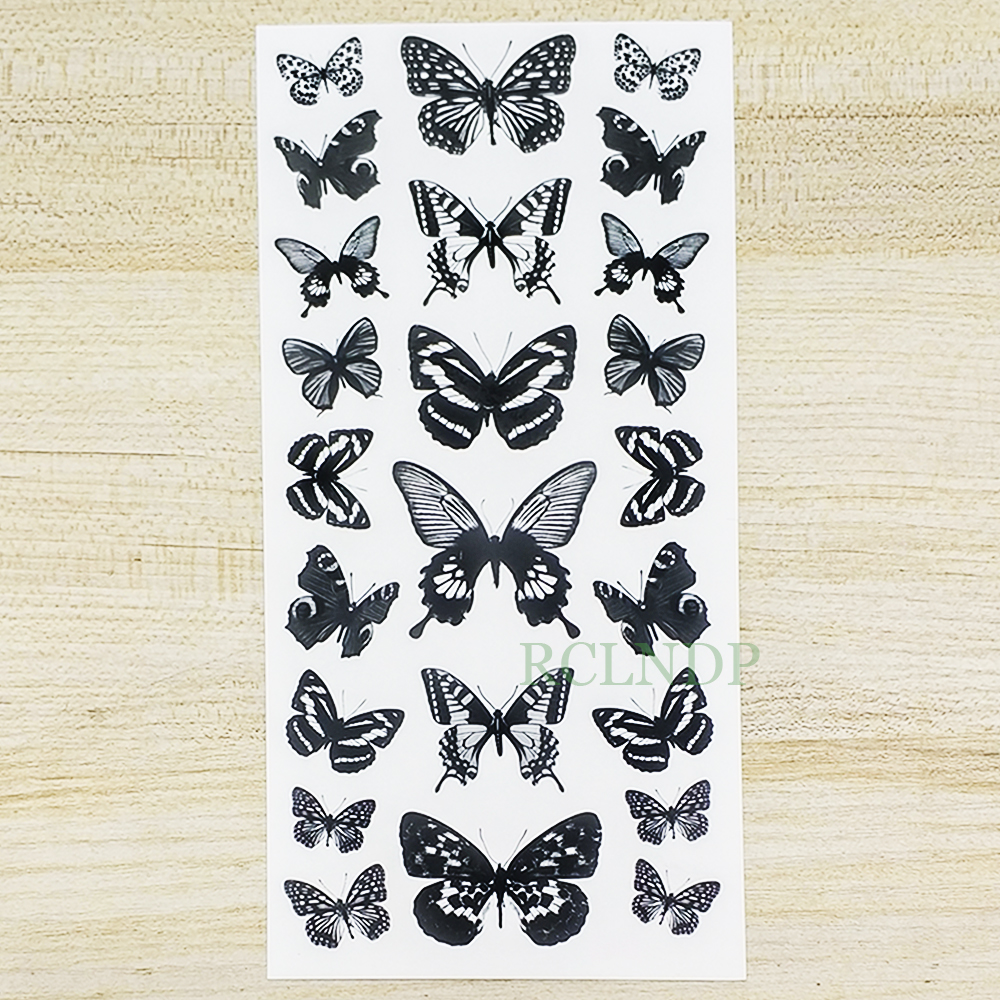 Waterproof Temporary Tattoo Sticker  Butterfly Fake Tatto Flash Tatoo Leg Arm Hand Foot Tatouage For Girl Women Lady