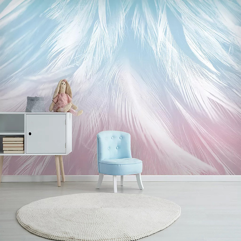 Custom Mural Wallpaper 3D Fashion Hand-painted Feather Texture Art Wallpaper Living Room Bedroom Creative Wall Decor 3D Frescoes