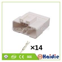 O envio gratuito de 2 conjuntos auto 14pin plástico fiação plug mg 641113 cabo arnês conector masculino mg641113