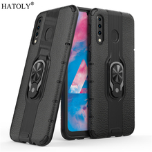 For Samsung Galaxy M30 Case Armor Finger Ring Rubber PC Hard Back Phone