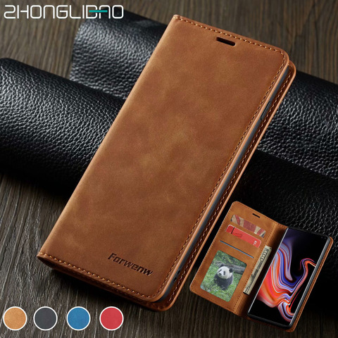 Flip Leather Case for Samsung A50 A30 S10 S9 S8 J4 J6 Plus S10e A70 A60 A20 A40 A80 A90 A6 A7 A8 2018 Magnetic Wallet 360 Cover Pakistan
