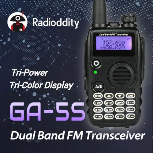 Radio-Walkie Talkie GA-5S, pantalla tricolor VHF/UHF 136-174/400-520 MHz, batería de 1800mAh tri-power 7W 50 CTCSS/105 CDCSS Contador de frecuencia portátil de 50MHz-2,4 GHz RK560 DCS CTCSS, medidor de Radio, medidor de frecuencia de RK-560