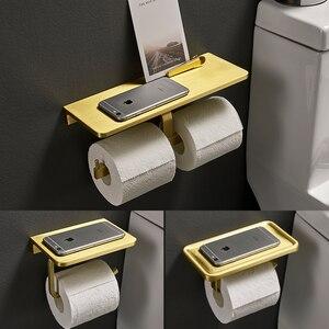Держатель для туалетной бумаги, матовый золотой мобильный телефон, рулон бумаги для ванной, бумажная коробка, настенный кухонный держатель ...