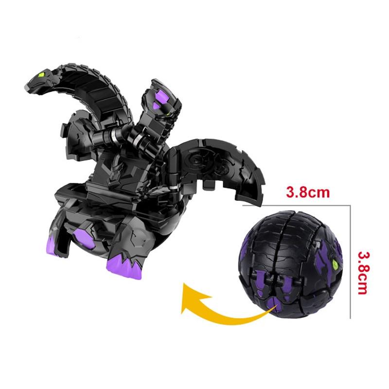 Dark three-headed dog Instant deformation battle planet Monster Ball Dog baku gan toy