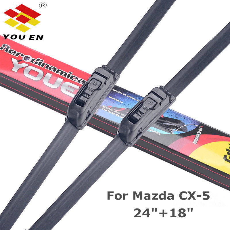 YOUEN Windscreen Wiper Blades <font><b>for</b></font> <font><b>Mazda</b></font> <font><b>CX</b></font>-<font><b>5</b></font> CX5 Fit U Hook Arms <font><b>2012</b></font> 2013 2014 2015 <font><b>2016</b></font> 2017 2018 image