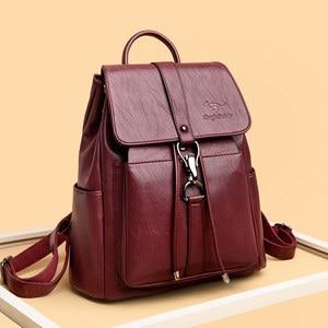 Image 5 - Women Backpacks mochila feminina school bag For Girls women traveling backpack Sac A Dos high quality leather ladys Shoulder Bag