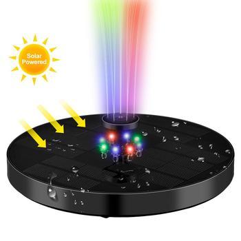 4 W 1 6V 3W fontanna solarna kolorowe światła LED prysznic fontanna ogród oczko wodne fontanna nadaje się do oczko wodne s i stawy tanie i dobre opinie CN (pochodzenie) Solar fountain Z tworzywa sztucznego ABS and PC UV protection Garden bird bath Solar bird shower fountain