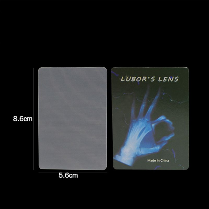 1pc LUBORS LENS Card And Pen Perspective Distortion Close Up Street Magic Tricks Kids Toy Tricky Gimmick Easy To Do For Beginner