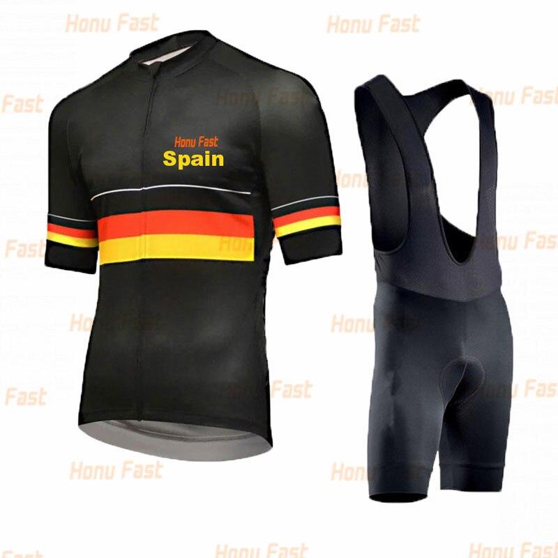 Mens Cycling Jersey Bib Short Kit Bicycle Bike Pro MTB Shirt Pants Team Clothing
