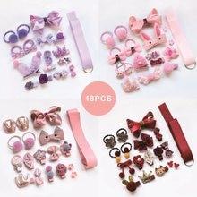 18PC/BOX Lovely Cartoon Baby Hair Clips Luxury Princess Barrettes Hairpin Birthday Gift Hair Accessories For Children HeadWear