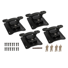 Set of 4 Bed Tie Down Anchors Box Link with Plates for Ford F150 2015-2021 FL3Z-9928408-AB FL3Z9928408AB