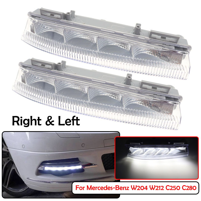 Feu antibrouillard DRL pour mercedes-benz W204 W212 C250 C280 C350 E350, feu avant de voiture