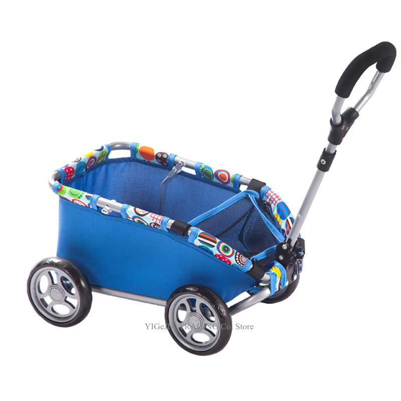 Four-Wheeled Kids Toy Trolley, Lightweight 2.2KG Small Cart For Above 3Ages Children, Baby Push-Pull Carriage