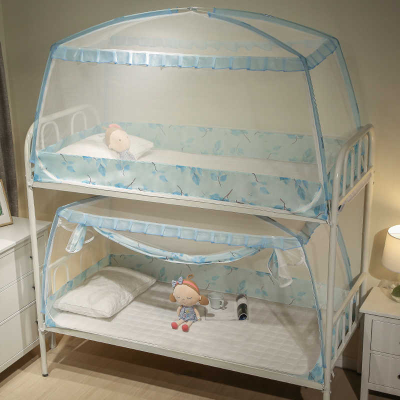 1 Piece 0.9m Mosquito Net For Dormitory Students Bunk Bed Kids Small Bed Mongolian Yurt Mosquito Net With Lace Decor 3 Colors