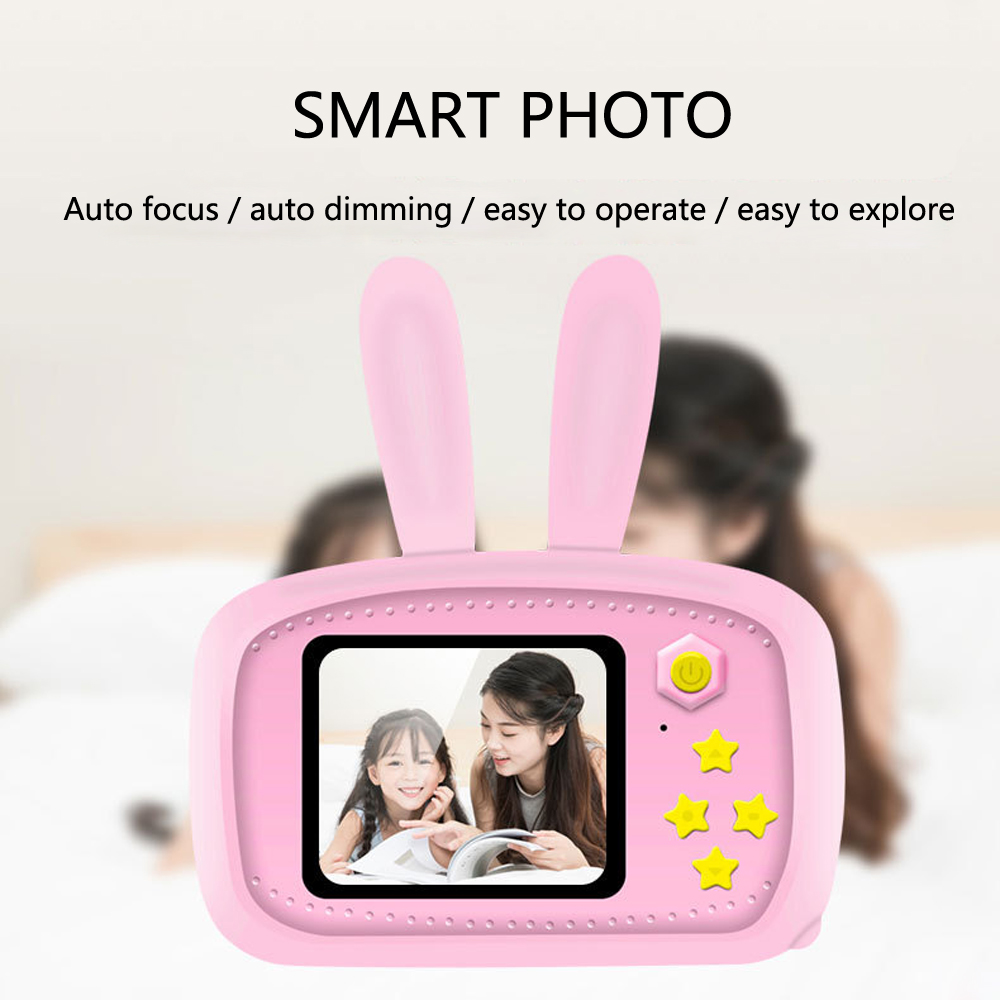 Kids Toys Portable Digital Video Camera 2 Inch Screen Display Children Mini Cameras With Cartoon Protective Case Birthday Gift