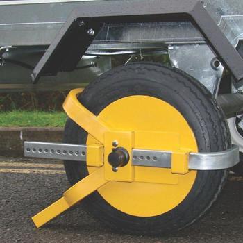 Compression Resistance Heavy Duty Steel Car Van Wheel Clamp Safety Lock