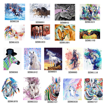 Horse canvas DIY Painting By Numbers Kit acrylic paint by numbers Wall Art Special gift Canvas Painting on canvas rihe quiet street diy painting by numbers lover dog oil painting on canvas hand painted cuadros decoracion acrylic paint art