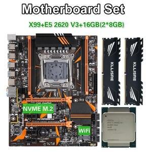 Kllisre X99 D4 motherboard set with Xeon E5 2620 V3 LGA2011-3 CPU 2pcs X 8GB =16GB 2666MHz DDR4 memory