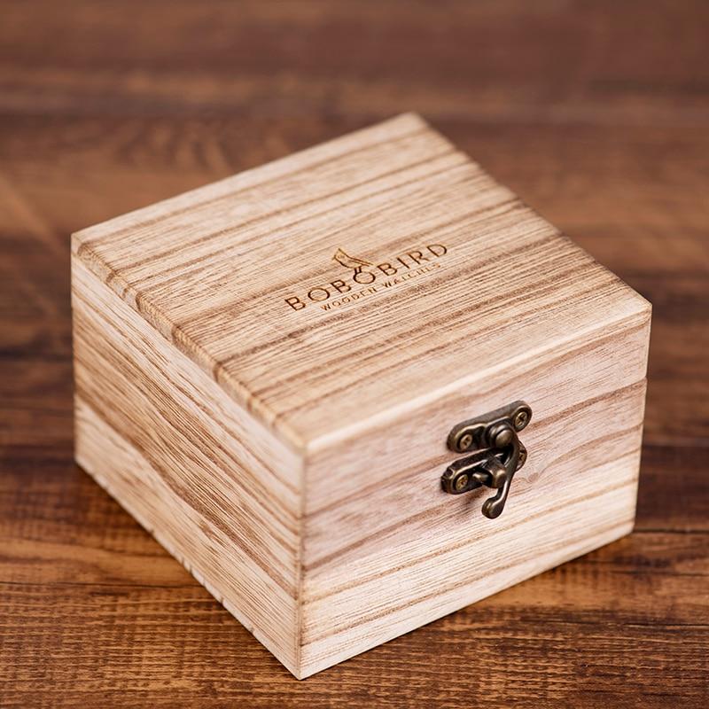 Image 5 - BOBO BIRD Relogio Masculino Wooden Watch Men Luxury Date Display Wood Japanese Quartz Watches Mens Great Gift erkek kol saatiQuartz Watches   -