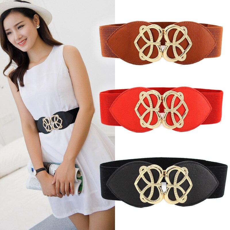 Popular For Women Width Belt High Elasticity Fashion Waist 5cm/6cm/7.5cm Dress Adornment Waistband 1PC