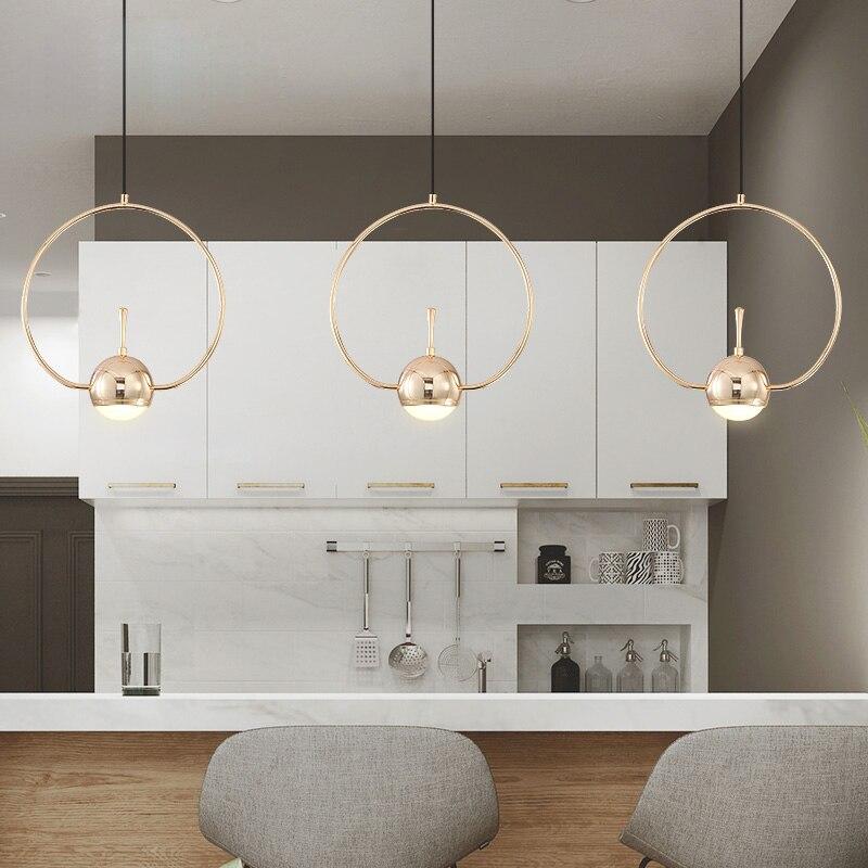 Moderne Nordic Wohnzimmer Kreative Kronleuchter Persönlichkeit Kunst Schmiedeeisen Kronleuchter Led Geometrische Form Linie Lichter - 4