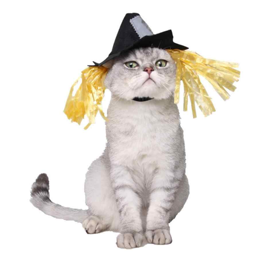 Halloween Holiday Scarecrow Hat Products Cosplay  Creative Pet Cat Dog  Dress Up Cosplay Costume  Pet Costume
