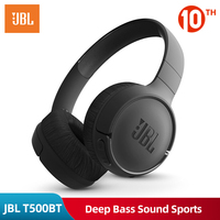 Original JBL T500BT Wireless Headphone Deep Bass Sound Sports Game Bluetooth Headset with Mic Noise Canceling Foldable Earphones
