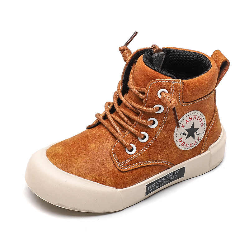 Genuine Leather Child Martin Boots Boys