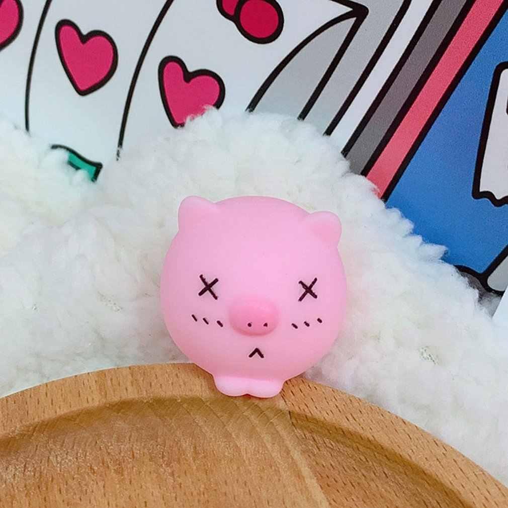 ซิลิโคนการ์ตูนน่ารักหมู Tricking เด็กของเล่น Venting หมูของเล่นบีบ Venting อารมณ์ของเล่น