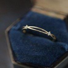 цена на Hollow small diamond wreath gold zirconium drill mini-mini double-deck rings  14k gold jewelry  diamond rings for women
