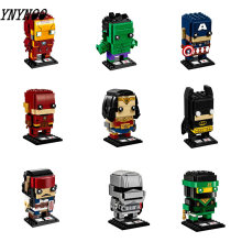 Marvel Avengers Building Blocks Compatible Legoing Captain Iron Man Spider-Man Hulk Black widow Children's Toys Gifts(China)