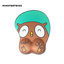 Anime cute animal owl 3D Mouse Pad Ergonomic Soft Silicon Gel Gaming owl Mousepad with Wrist Support Mouse Mat anime 3d mouse pad ergonomic soft silicon gel gaming mousepad with wrist support cute cat mouse mat for girls 10 2x8 5